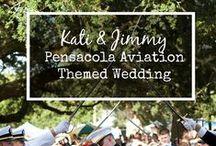 Pensacola Aviation Themed Wedding / This cheerful Pensacola Aviation themed wedding was on July 4th.