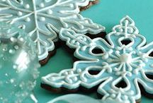 Snowflakes / Many different ways to decorate snowflakes