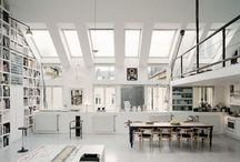 """The SPACES / An inspiration board for a """"someday"""" studio or workspace.  A wish list for a place to work and play in."""