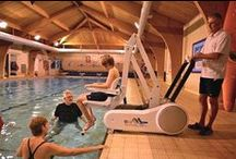 Pool Lifts / Swimming pool lifts and pool hoists for the less able. Call us free in the UK on 0800 9800 126 for more details on any of these lifts.
