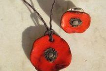 Jewellery ideas-Bijoux / Bijoux réalisables en terre et /ou porcelaine papier