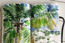 Art: Christine Chadeyron peintures / #huile #gouache #aquarelle
