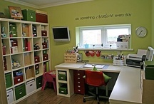 Craft Room & Craft Organization Ideas / Craft Room Ideas, and ways to organize your crafting supplies.