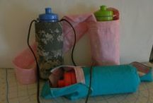 My Sewing Tutorials. / Free Sewing tutorials: grocery bag, water bottle sling, diaper changing mat, sandwich bag, keychain,  / by Penny