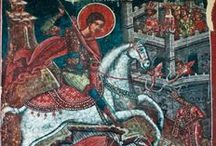 Holidays: St. George's Day / April 23, Origin story of a knight slaying a dragon to rescue a princess!  / by Emily Day