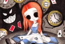 SteamWonderland / -Alice -MadHatter -ChesireCat -WhiteRabbit -Clocks -Tea -TeaCups -Mushrooms -Drink/EatMe -Pink-violet-green