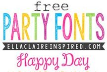 Fun with Fonts / For the LOVE of ALL FONTS :)
