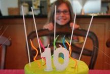 Glow/Neon Party: Sarah's 10th birthday