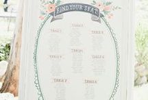 Wedding Seating Chart Ideas / All the different type of seating chart ideas you can think of. Enjoy!