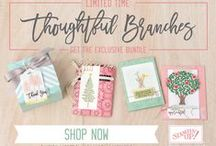 Stampin' Up! UK Thoughtful Branches Bundle / Check out the amazing Thoughtful Branches Stamp Set and Dies from Stampin' Up! UK available 2 - 31 August Only.  Get yours at www.bekka.stampinup.net