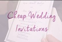 Cheap Wedding Invitations / All of teh best cheap wedding invitation ideas in one place. DIY ideas and where to get cheap invitation supplies plus where to find gorgeous cheap wedding invites / by Cheap Wedding