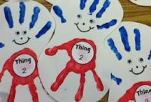 Handprints / This is a collection of arts and craft activities which use handprints or hand shapes within the project.  Footprint and fingerprint projects are included as well.