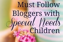 MUST FOLLOW Bloggers with Special Needs Children / A community of parents with special needs children who also blog. Together, we are sharing our favorites posts, therapy resources, sources of encouragement, and more. Please share this board with your friends who need to know that they are not alone.