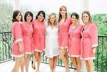 Coral Wedding / Bridal robes, bridesmaid robes, and real wedding ideas  / by Love Ophelia