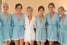 * something blue * / Something blue for your wedding! Bridal and bridesmaid robes in blue