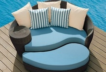 Poolside Relaxation / We think there's nothing better than kicking back and relaxing poolside, especially with these chairs, couches and loungers.