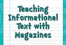 Informational Text Resources / Informational text free resources and teaching strategies for elementary, middle, and high school. Great resources for librarians to share with their teachers.