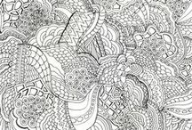 Colouring Pages & Puzzles For Adults