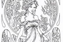 Colouring pages / Print a page and enjoy some colour therapy <3