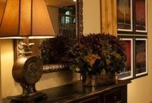 Mantles and First Impressions / Fireplace mantles and Foyer tables