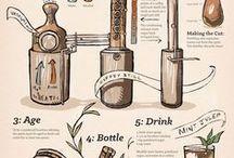 Infografías sobre Coctelería / Infografía y diseños sobre coctelería, recetas e información sobre el mundo de los cócteles.