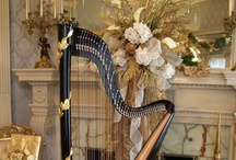 Harps / The beauty of a harp starts with first sight, then enraptures the hearing, and finally resides deeply in the soul. / by ~*♥*~ Angie Tsoupanarias~*♥*~