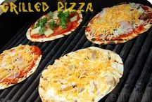 ♨ Entree - Grilled Pizza (low carb; gluten free) / Verify that meats, cheeses, breads/grains/flours, seasoning & sauces are gluten free. ALWAYS VERIFY IN / by Jessica McK