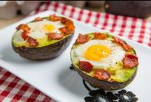 Savory Brunchy Poo / savory breakfast foods, eggs, bacon ect / by Bethany B