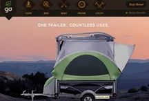 """SylvanSport GO Adventure Trailer / The award winning GO is our flagship trailer. Referred to as the """"Coolest. Camper. Ever."""" by National Geographic Adventure magazine, the GO is as versatile as you are."""