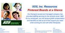 Boards at a Glance / Let us make it easier for you to find the SOS Therapy Resources you need!