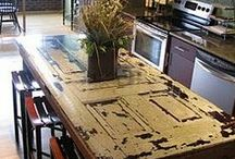 Rustic Industrial Dining Room / by Jean Radunz
