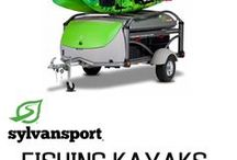 Fishing Kayaks / The GO and GO Easy can carry the largest of fishing kayaks, many of them! Carry your boats, boxes, PFDs, rods and reels, coolers and so much more. You can even set up camp and have the greatest fishing and camping weekend ever.