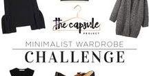 Capsule Wardrobes / A collection of wardrobe/clothes capsules and how to mix and match them.