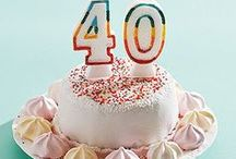 """40 is FABULOUS / There was once a time when after a woman turned 40 she was considered to be over-the-hill, but now women are proving that at 40, the party is just getting started! """"Forty doesn't mean what it did a generation or two ago,""""  """"When a woman turns 40, she is not the same age as when her mother turned 40. She's in better health. She has a lower mortality risk. She has more healthy years to look forward to. 40 is Fabulous"""
