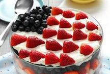 Red White and Blue / 4th Of July Food, 4th of July desserts, red white and blue food and everything to help celebrate the 4th of July holiday. / by Amanda - Mommity