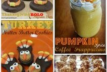 Thanksgiving Recipes / This is a collection of Thanksgiving desserts, side ideas, meal ideas and treats for parties. / by Amanda - Mommity