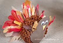 Thanksgiving Crafts / This board is all DIY Thanksgiving Crafts. No food will be added here. / by Amanda - Mommity