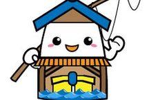 **ふなやん / 伊根の舟屋に住む妖精「ふなやん」です。 魚釣り大好きゆるキャラ「ふなやん」を可愛がってください! http://line.me/S/sticker/1081697