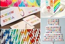 Rainbow Party / Addie's 3rd Birthday Ideas / by Jenny Wilcox