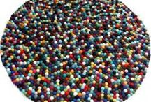 Felt Ball Rugs / We are manufacturer and exporter of felt ball rugs. Felt balls rugs are good for your house floor, hotels room. Felt ball rug is of sheep wool and 100% natural. Felt rugs is also called felt ball mat and available into different size and color. Felt ball rugs handmade by experience Nepali women artisans. http://handmadeshopy.com/felt-wool-products/Felt-Ball-Rugs