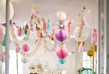 Party Decor / Garlands, balloons, photo booth backdrops, and other party decor