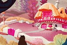 Animation Related- Environment/BG design / Background and environment design and development. Animation design and development.