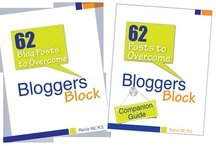 """62 Blog Posts to Overcome Blogger's Block / Learn how to create engaging, shareable blog posts from over 55 bloggers in my book """"62 Blog Posts to Overcome Blogger's Block"""""""