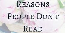 Love of Reading / Reading inspiration. Reading. Why Read? Reading is good for your health. We should all read more.