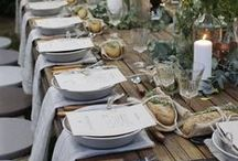 Tabletops & Place Settings / Ideas and inspiration for gorgeous tabletops, centerpieces, and place settings for your next dinner party, gathering, wedding, or event