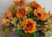 Autumn Bounty / Created from a vibrant palette of fall colors - flame, goldenrod, and deep orange.
