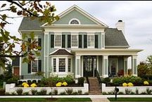 First Impression / House exterior, paint, landscaping, and yard. / by Sarah Taddei