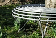Outdoor benches and tables