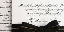 Black Tie Wedding / inspiration for a formal, black tie affair
