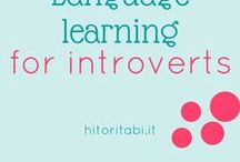 Language Learning for introverts / Language learning tips & strategies for #introvert and shy learners. #languagelearning #introverts #learnalanguage